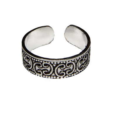 Toe Ring .925 silver girls adjustable open foot beach ring feeanddave
