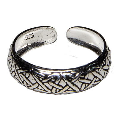 Toe Ring .925 silver girls adjustable open foot beach feeanddave