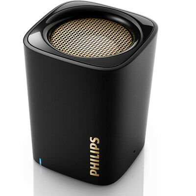 Cassa Speaker Bluetooth Wireless Altoparlante Portatile Microfono Philips Nero