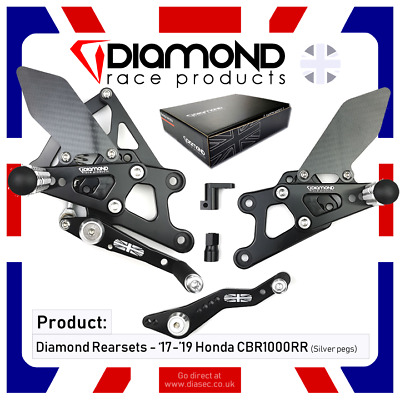 Diamond Race Products - Honda Cbr1000 Rr Fireblade 2019 '19 Rearset Footrest Kit