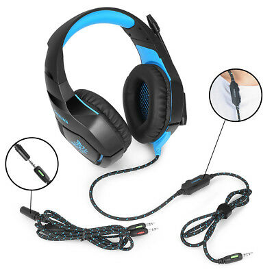 Stereo Bass Surround Gaming Headset Headphone With Mic For  One PC Laptop R-