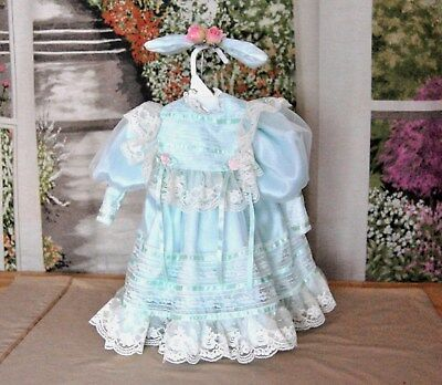"""Antique Victorian Style Doll DRESS & BOW 4 Large Bru 21-24""""  German French Child"""