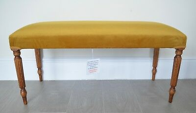 Duet Stool/Bench/Seat in Mustard Antique Gold