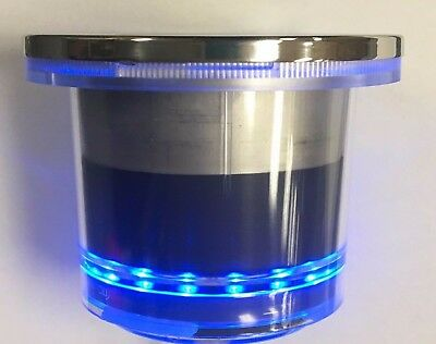 1 NEW Marine RV Blue LED Stainless Steel Drink Cup Holder Watertight IP66