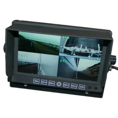 7 inch colour quad screen rear view monitor
