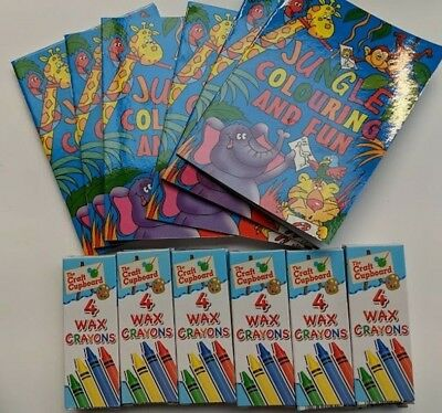 100 COLOURING BOOKS And 100 Crayons Party Bag Fillers Bulk ...