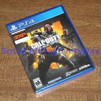 Call of Duty Black Ops IIII 4 exclusive with 2XP (PlayStation 4) BRAND NEW ps4