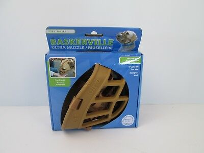 Baskerville Ultra Muzzle Size 5 Dog Animal Labrador German Shepherd NEW Brown