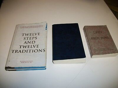 Alcoholics Anonymous, Daily Reflections, Twelve Steps, 3 Books Free Shipping