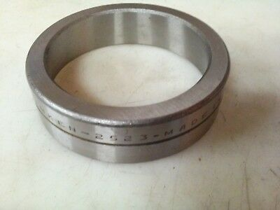Pair vintage Timken 2523 bearing cup, made in USA (grooved outer).