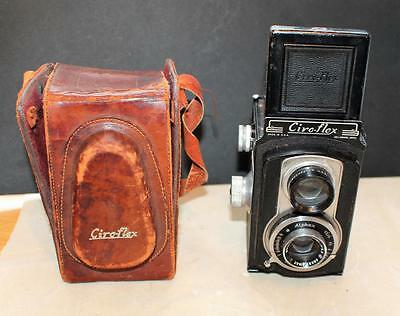 Vintage Ciro-Flex TLR Camera w/ Wollensak Anastigmat 85mm f/3.5 Lens & Case