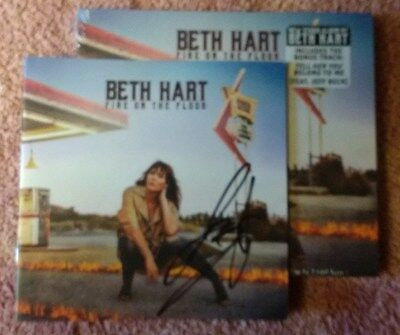 SIGNED Autographed BETH HART Fire On The Floor CD with Jeff beck on 1 track