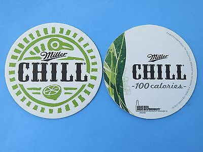 Beer Coaster ~ Miller Brewing Company Chill 100 Calories ~ Milwaukee, Wisconsin