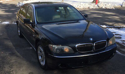 2006 BMW 7-Series  BMW 750 Li 2006 Canadian car black exterior,light  tan/beige leather interior
