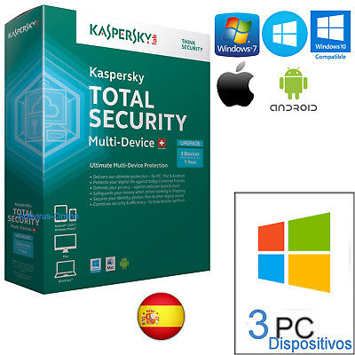 Kaspersky Total Security X3  2019  1 Año  - Envio Solo Por Email