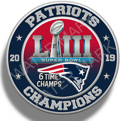 New England Patriots Super Bowl 53 2019 Champions, Sticker Decal NFL Football