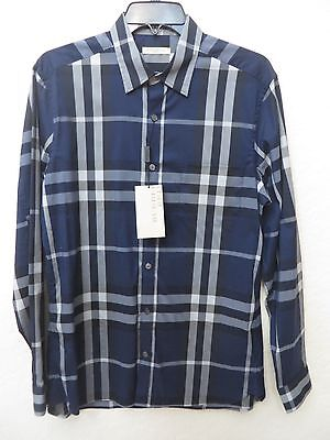 ad3fdc028b37a2 BURBERRY Brit Mens INK Nelson Plaid Long Sleeve Size M Shirt MSRP $ 325