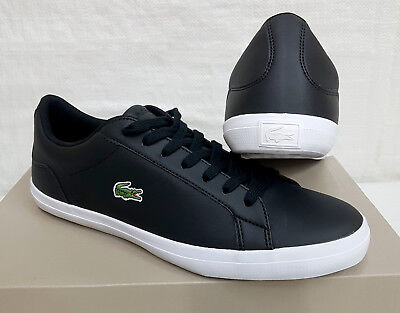 249a0bee14 Lacoste Lerond BL1 Chaussures Homme Cuir Sports et Loisirs Baskets Noir Neuf