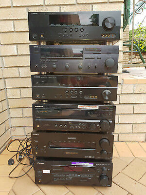 Qty: 6 Receiver Amplifiers - Pioneer Sony Yamaha
