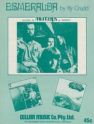 Murtceps-Esmeralda-1972 Sheet Music-Original Australian issue-Spectrum-Rare!!