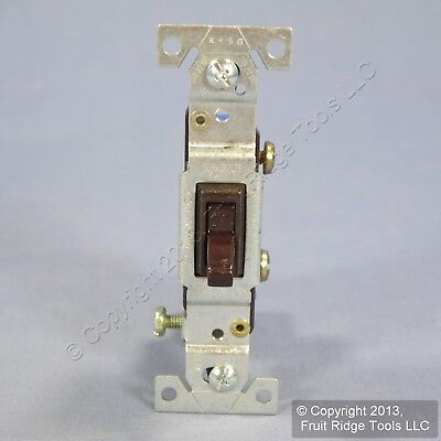 Eagle Brown Single Pole Framed Toggle Wall Light Switches 15A Bulk 1301-7B