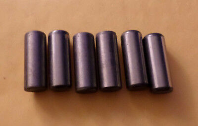 "3/8"" x 1"" Dowel Pin Hardened & Ground Alloy Steel Bright Finish (Qty 6) (C10B6)"