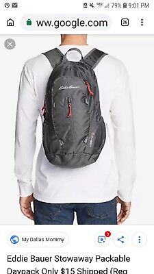 Eddie Bauer Stowaway 10L Sling Bag NWT Backpack Packable Light lb(Eggplant)  NEW! e4079529e7a11