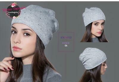 Knitted Wool Beanie Thin Slouchy Winter Hat