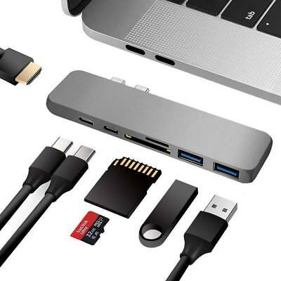 7 in 1 USB-C Type C HD Output 4K HDMI USB 3.0 Adapter HUB For Mac Book Pro OZ