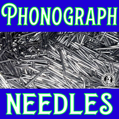 100 Phonograph LOUD TONED NEEDLE pack for Hand Crank Victrolas Gramophones