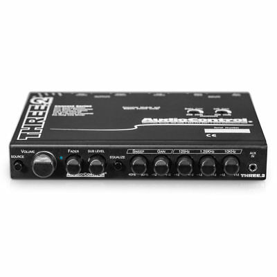 AudioControl THREE.2 In-Dash Grafik Equalizer EQ Auto AUX Eingang