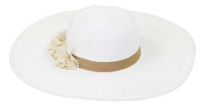 c86991774f3060 ... August Hat CO Fantasy Floral Adjustable Floppy Sun Hat White One Size  Women's 2