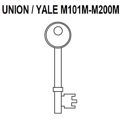 Union / Yale Precut Keys For 3 Lever Locks M101M - M200M Door Key