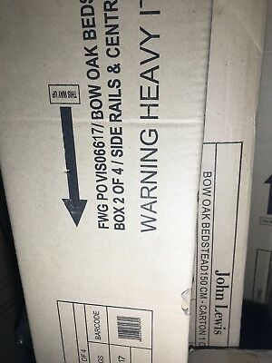 69fa2b591bd9 A House by John Lewis Bow Upholstered Headboard Bed Frame - New - can  deliver