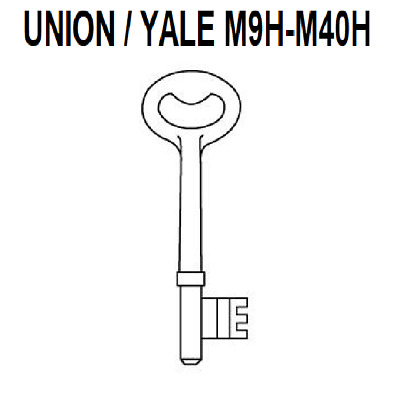 Union Precut Keys For 2 Lever Mortice Locks M9H - M40H Door Key