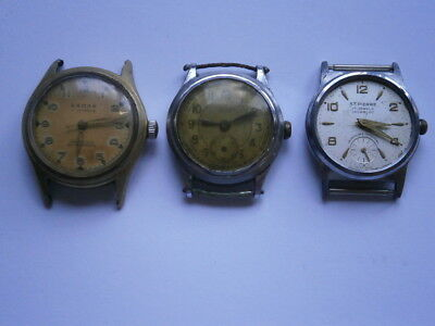 Job lot of vintage gents small watches mechanical watches spares or repair swiss