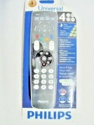 ORIGINAL Philips SRP4004/27 Universal Remote Control 4-in-1 Glow Buttons