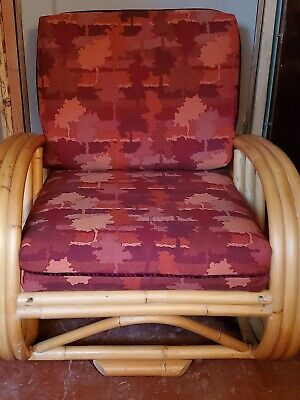 Mid Century Paul Frankl Style Sofa, Armchair 2 tables set! Recently upholstered