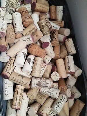 150 used wine corks,all natural cork from red & white wines
