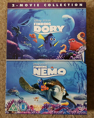 DVD Disney Pixar Finding Nemo and Finding Dory Double Pack 2 Movie Collection