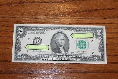 Two Rare 2013 Uncirculated $2 Bills Federal Reserve Two Dollar Notes ~ Very Nice
