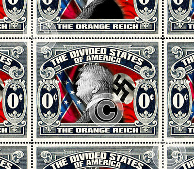 Trump - The Orange Reich - Art Stamps (Artistamp, Faux Postage, REPRO)  RESIST!