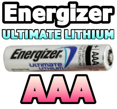 4 x AAA ENERGIZER ULTIMATE LITHIUM BATTERIES L92 1.5v TOP QUALITY WORLD No.1
