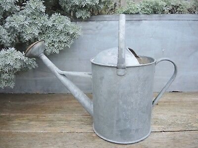 2 Gallon Beldray Vintage Galvanised  Metal Watering Can with Copper Rose  (102)