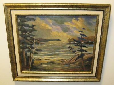 Northern Ontario Lake Storm Clouds Alan Campbell Canadian 1966 Husband Flo