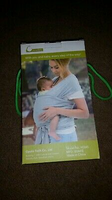 974446122f3 Innoobaby Baby Toddler Wrap Carrier Sling Black Cotton Breastfeeding 7 To  35 Lbs