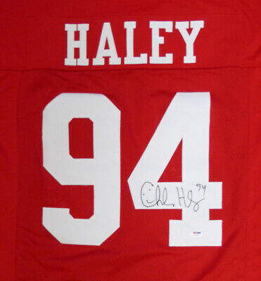 c49db8d4d San Francisco 49Ers Charles Haley Autographed Signed Red Jersey Psa/dna  104808