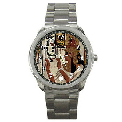 New Nefertari Ancient Egyptian Queen Men's Sport metal WATCH Free Shipping