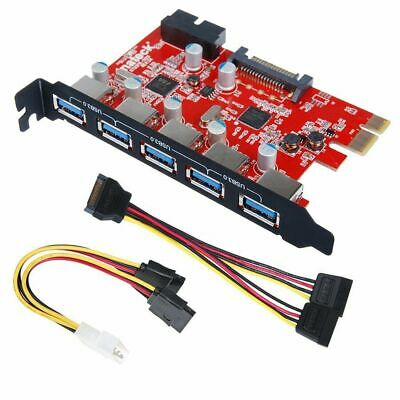 Inateck KT5001 PCI-E to USB 3.0 5-Port PCI Express Card and 15-Pin Power Connect