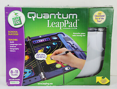 LeapFrog Quantum Leap Pad Learning System New 8-11 Yrs 3rd-5th Grade Educational